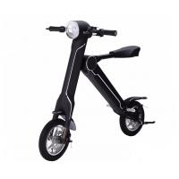 Popular 2 Wheel Electric Folding Kick Scooter With Seat , 12inch Pneumatic Tire