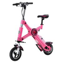 Foldable Electric Scooter Pink With Seat