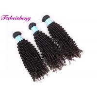 Quality Black Virgin Brazilian Curly Hair Extensions Natural Double Drawn Hair Weft wholesale