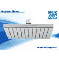 Quality Commercial Rainfall Square Overhead Shower Head 8 Inch With Flat Front wholesale