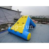 Best Commercial 0.9mm PVC Tarpaulin Inflatable Big Air Slide / Blob For Water Park wholesale