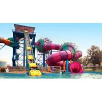Storm Valley Slide Children / Adults Outdoor Colorfull Fiberglass Water Slides Equipment for Water Park Resort