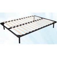 1.5m * 1.8m Metal Frame Bed With Durable Wood Slat Stable Structure
