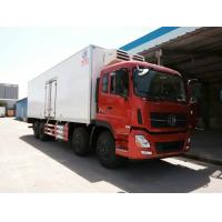 cheapest price Dongfeng Tianlong 8*4 9.6M length refrigerator truck, hot sale Dongfeng 8*4 LHD 25tons cold roon truck