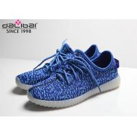 Lace Up Blue Luminous Running Shoes , LED Light Up Dance Shoes For Night Entertainments