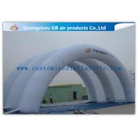 White Inflatable Arch Tent / Inflatable Tunnel Tent With Oxford Cloth Material
