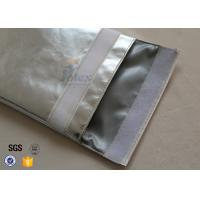 Quality Large A4 Size No Itchy Fiberglass Fireproof Document Bag with Metal Push Button wholesale