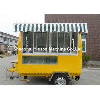 Quality CE Yellow Strong Street Food Van Hire With Sliding Glass Window wholesale