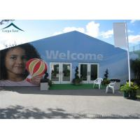 Best Blue Outdoor Event Tents With Double - Wing Glass Door , Wedding Canopies wholesale