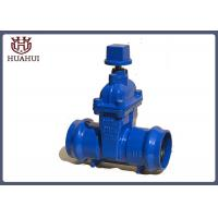 PVC Pipe Socketed Resilient Seated Gate Valve Blue Color For Sewage Treatment