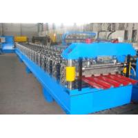 Best 0.3 - 0.6mm Roof Tile / Roof Panel Roll Forming Machine With Hydraulic Cutting 4Kw wholesale