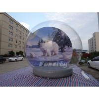 Quality Christmas Outdoor Decoration 5M Giant Inflatable Human Snow Globe wholesale