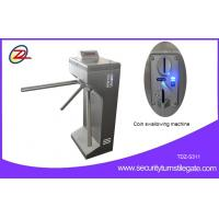 Best Vertical Coin Operated Turnstiles , Electronic Controlled Access Turnstile Security Gates For Gym wholesale