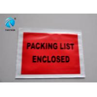 Peal and Seal Packing List  envelope enclosed , Poly Mailing Bags
