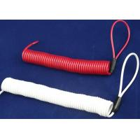 Buy cheap Double Loops White/  Red Coil Spiral Spring Steel Cable For Tool Use from wholesalers