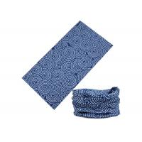 Circle Pattern Blue Color UV Buff Headwear Polyester 25*50 CM