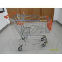 Quality 150L Metal Wire Shopping Trolley , Swivel TPE Casters Supermarket Shopping Trolley wholesale