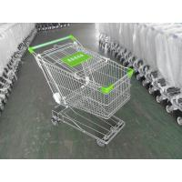 Quality 125L Supermarket Shopping Cart Zinc Plating 4 Inch Rubber Wheel wholesale