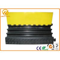 Cheap Heavy Duty Rubber Yellow Jacket Cable Covers 3 Channels 900 x 500 * 75 mm 17kg Weight for sale