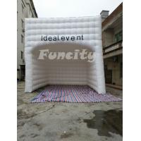 Quality 0.55mm PVC Tarpaulin 6mL*6mW Inflatable Cube Tent , Event Inflatable Bubble Tent wholesale