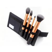 Rubber Aluminum Handle Women'S Makeup Brush Set Folded Brush Bag