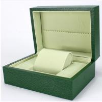 Quality Green Paper Watch Box / Jewelry Wooden Box Packaging Eco-friendly wholesale
