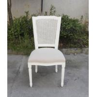 Living Room Furniture Rattan Back Fabric Seat Wholesale Wood Chairs Stackable Cross Back Chair