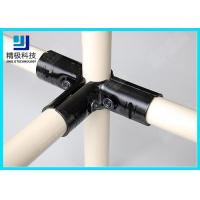 Quality 3 way Flexible Metal Pipe Joints Black Electrophoresis For Pipe Rack System wholesale