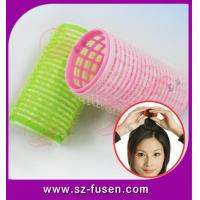 Quality Pink Magic Velcro Hair Rollers , Durable PVC / Foam Beauty Hair Clip wholesale