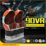 Quality 22PCS VR +70 PCS  Electric Full Motion Amusement Ride 9D Virtual Reality Simulator Triple Cinema Chair wholesale