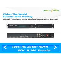 Quality 8 Channel HD H.264 / MPEG4 Audio Video Encoder With 8CH HDMI Input / IP Output wholesale