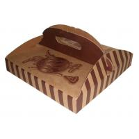2017 custom Luxury recycle kraft food take out box with handle