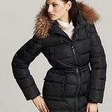 Womens Black Coat With Hood