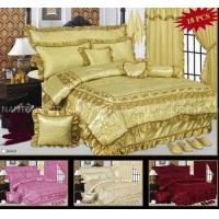 Quality 100% satin polyester bedspread set wholesale