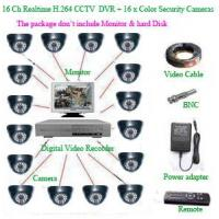Quality CCTV PRODUCTS 16Ch Realtime H.264 Network CCTV DVR+ 16 x Color dome Security Camera wholesale