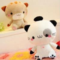 Lovers plush doll rice balls cat wedding gifts