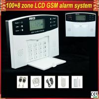Quality GSM-500 Wireless Home Security LCD display GSM Alarm System with remote control wholesale