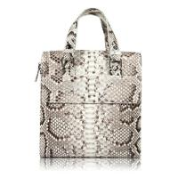 Quality Famous designer luxury real python skin leather handbag tote bag for business wholesale