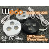 Quality WD-300A 12V 3W LED Cabinet Light / LED Puck Light with CE cUL UL Certified wholesale