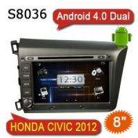 2 Din 8 inch Android 4.0 Auto Radio Stereo Multimedia DVD GPS For HONDA CIVIC 2012 S8036