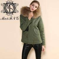 Quality whole new brand latest design real fox fur hooded women military wholesale