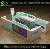 Shopping mall eyebrow kiosk with free design