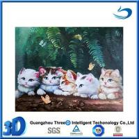 Cat Christmas decorative PET/PP material 3d cat poster