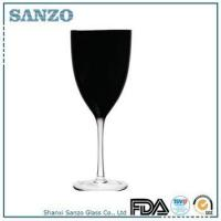 RW09191 Sanzo Handmade Glassware Manufacturer handblown black red wine glass