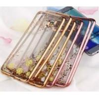 Quality Luxury Electroplate Crystal Transparent TPU Case for Samsung Galaxy S6 edge wholesale
