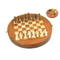 Wooden chess & checker