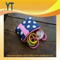 Quality Blue And Pink Polka Dot Baby Pacifier Bag,Baby Pacifier Clip,Baby Pacifier Holder wholesale