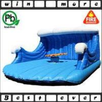 Quality inflatable mechanical rodeo surfboard ride for adult game, inflatable game for sale wholesale