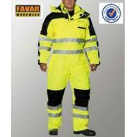 Quality Polyester 300D oxford high visibility winter coveralls waterproof wholesale