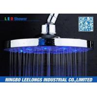 Quality Hotel SPA Ceiling Mounted Rain Shower Heads Overhead , Blue Led Shower Head wholesale